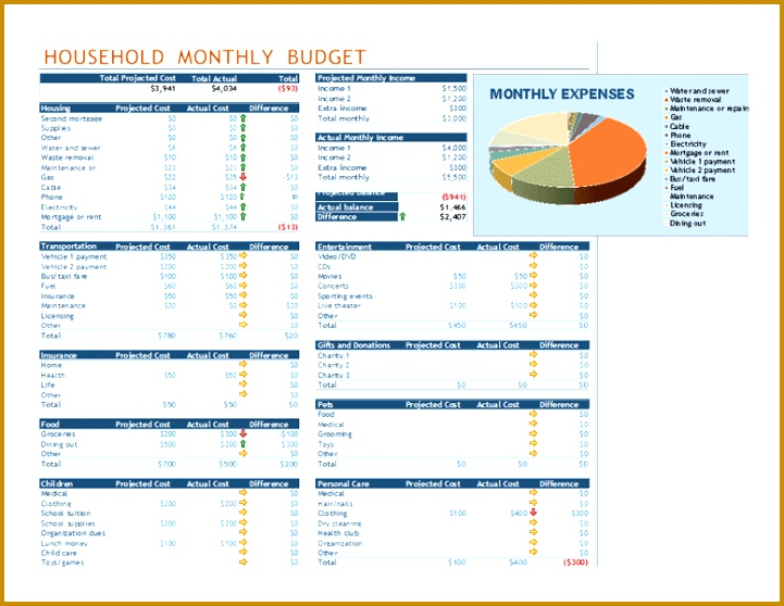 excel template bud 558721