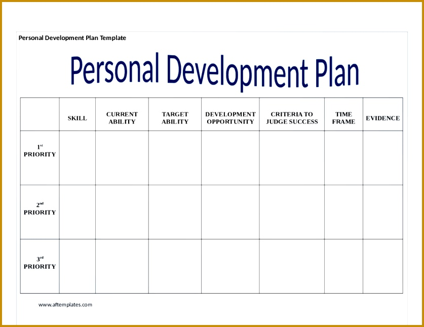 personal business plan template personal development plan template how to write personal ideas 646837