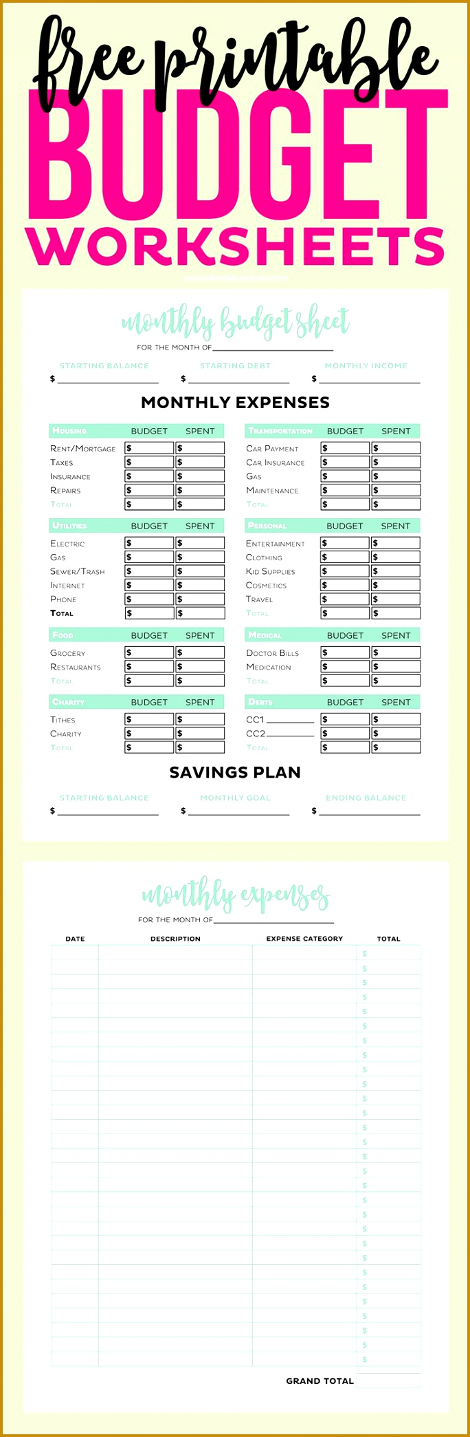 Personal finance and expenses US Letter paper size Tap the link to shop on our official online store You can also join our affiliate 2088684