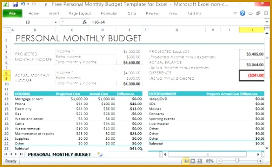 free personal monthly bud template for excel finance excel template 331539