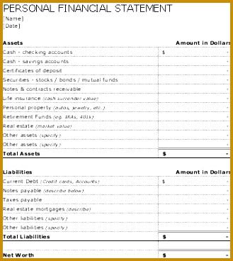 RRSP Net Worth Worksheet