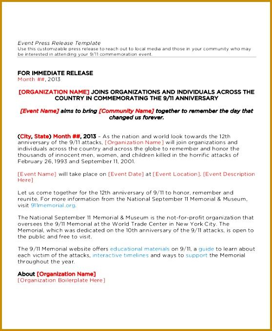press release template 678558
