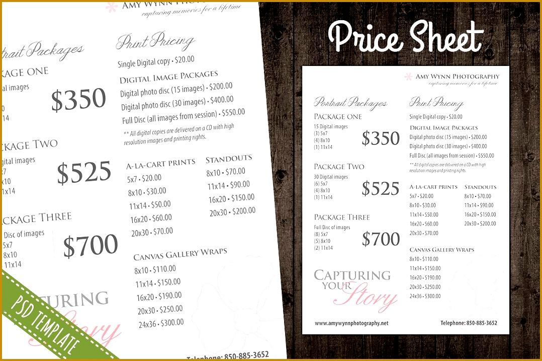 Price List Template Pricing Sheet s Graphics Fonts Themes Templates Display Creative Market 7171078