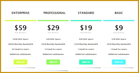 Beautiful price hosting with HTML5 and CSS3 548290