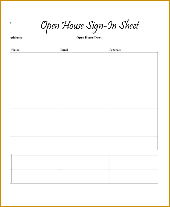 Sign In Sheet 14 Free Word Excel Pdf Documents Download 558678
