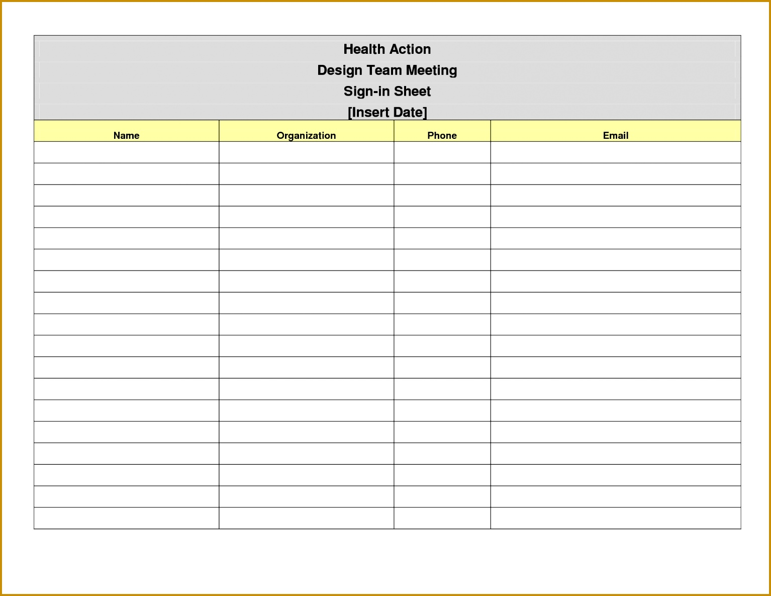 Free Printable Sign In Sheet Template 11851534