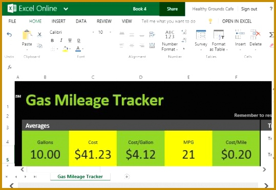 Keep Track of Your Gas Mileage Using This Excel line Template 372539