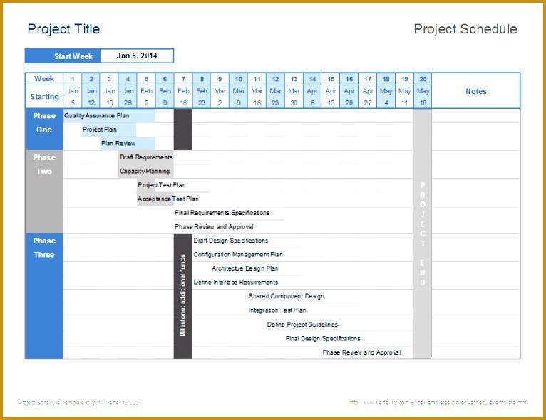 Project Schedule Template Project Schedule Template 590766