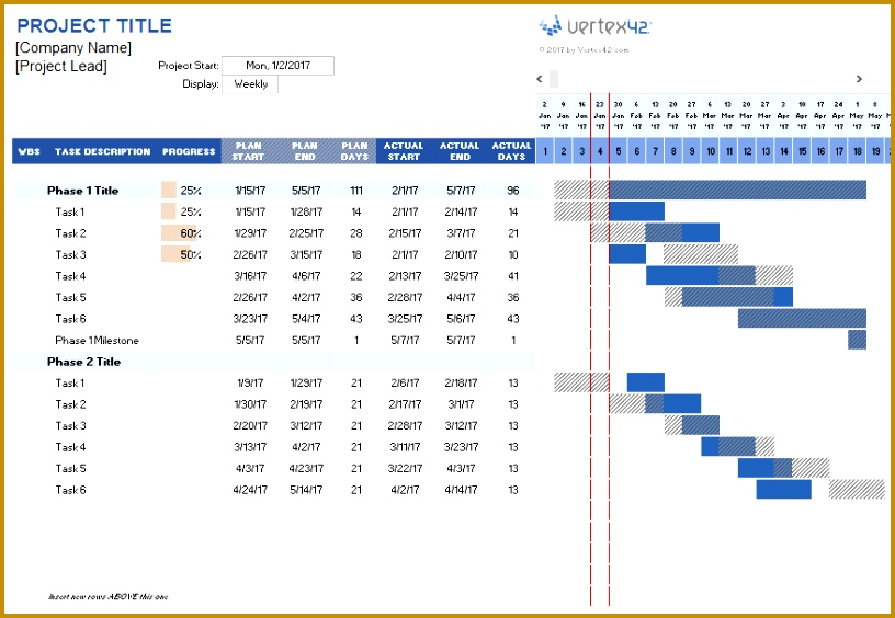 excel project schedule template project planner template 564816