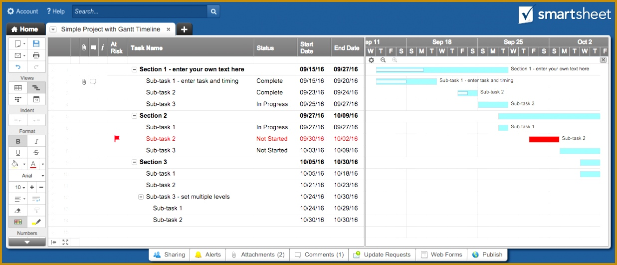 4 Project Timeline with Milestones Template