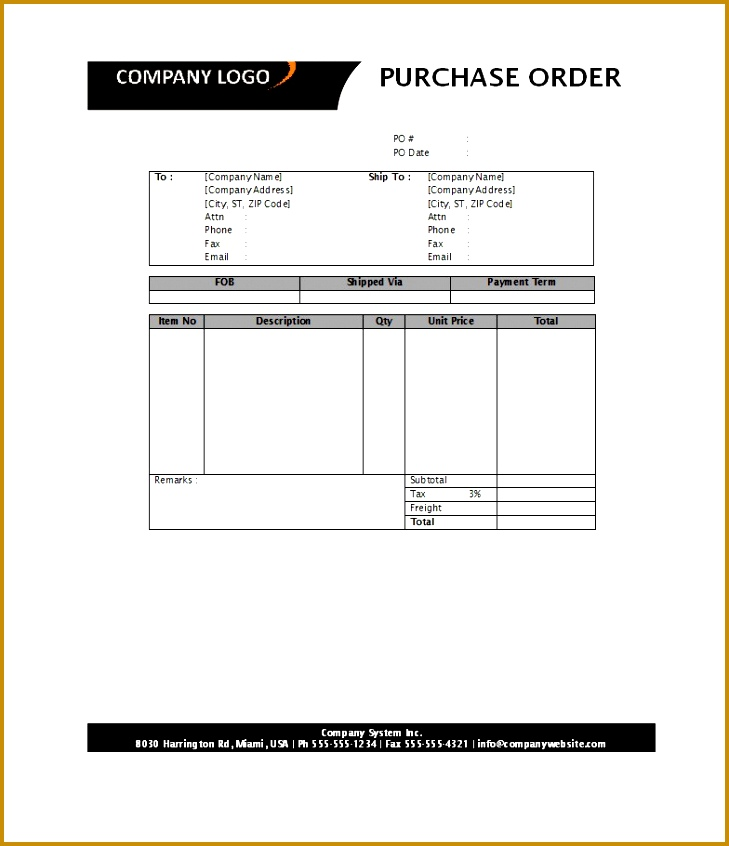 purchase order templates 846729