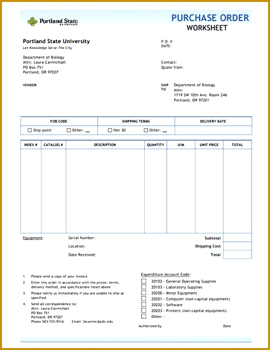 post printable purchase order form template 721558