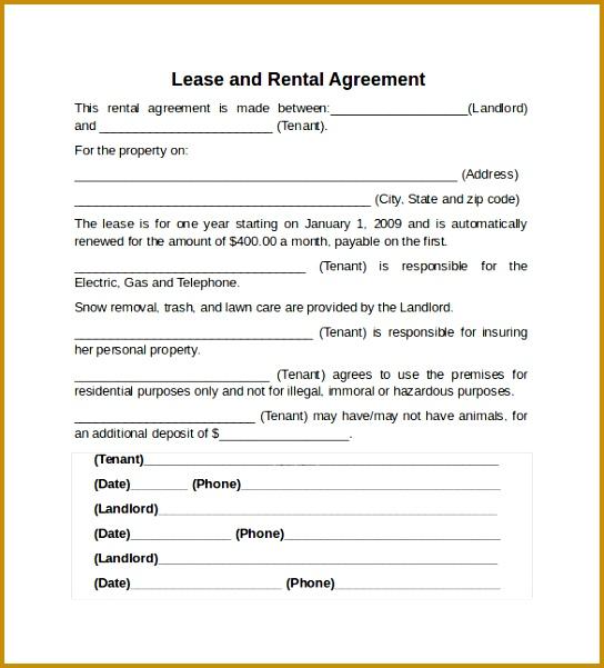 rental lease agreement 601544