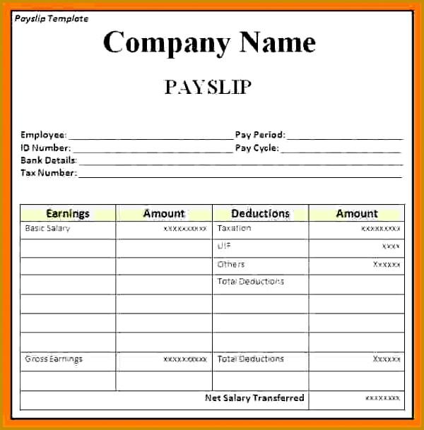 4 salary slip format in word free 609600