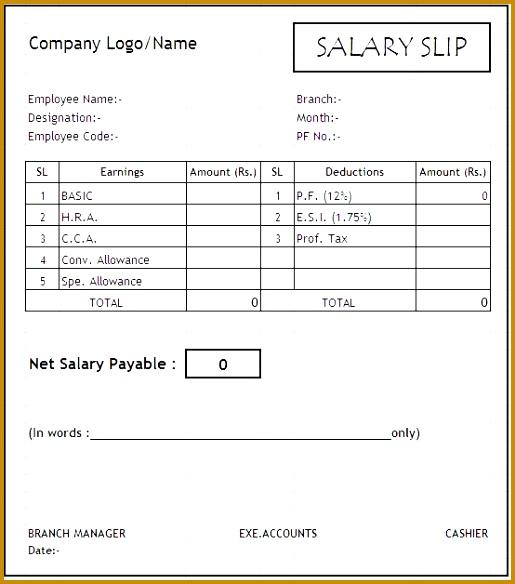 simple salary receipt template samples 584515