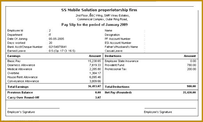 salary slip format 391647