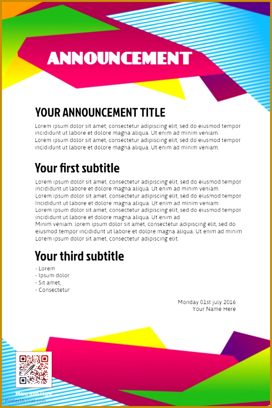 Sample Business Flyer 96417 Sample Club Announcement Flyer Template organization and Club Poster Templates