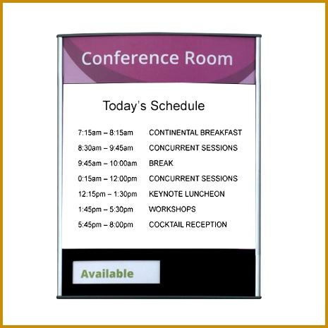 """Conference Room & Slider Sign 13""""H x 465465"""