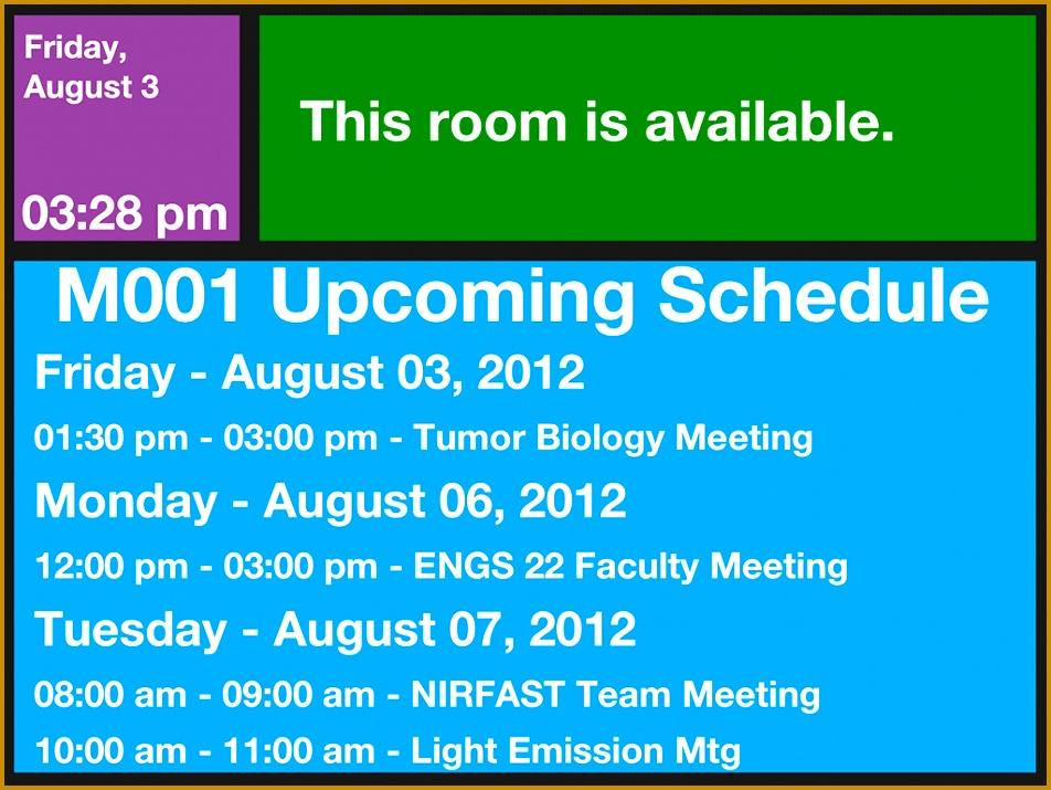 Screenshot of the room schedule 715952
