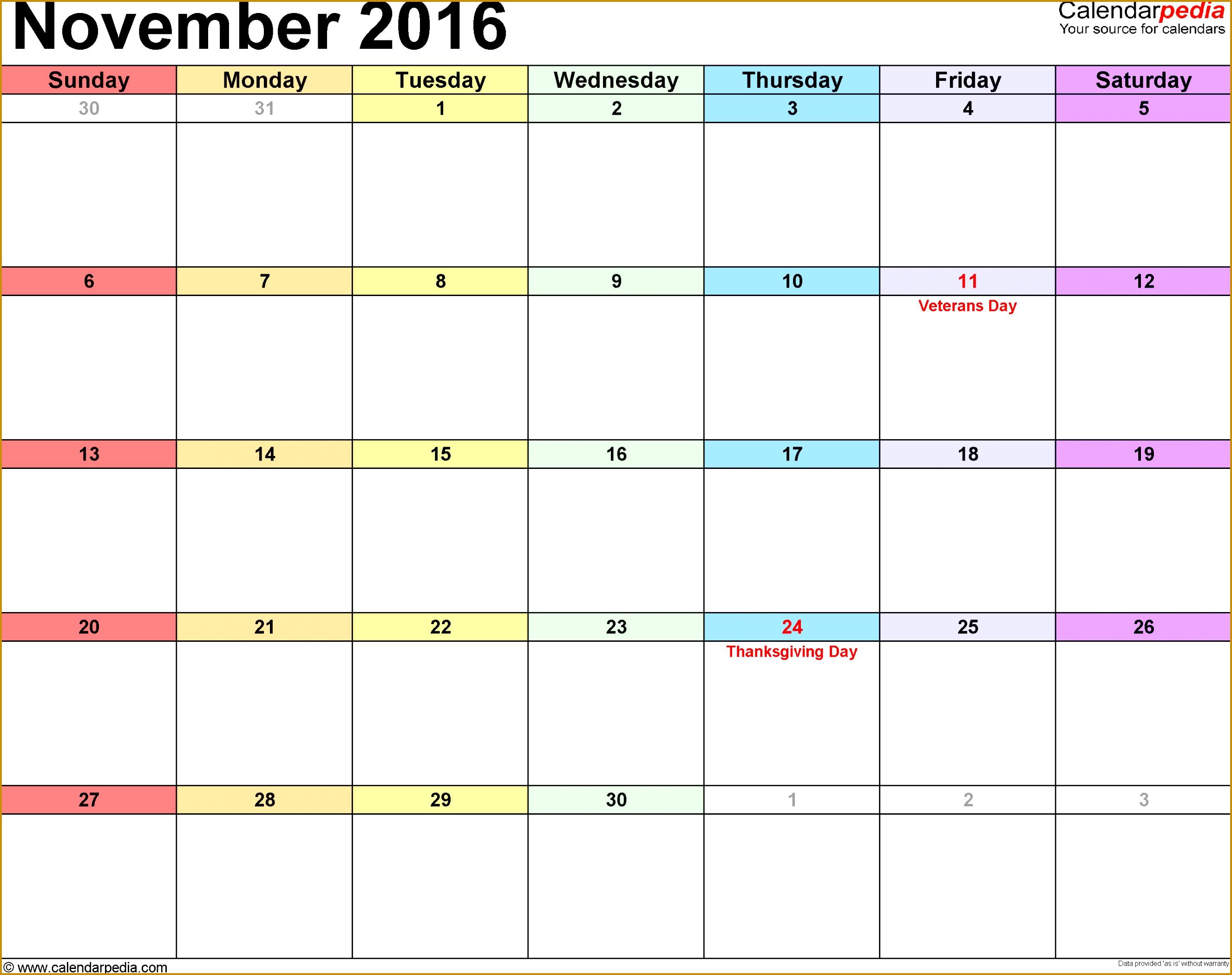 November 2016 calendar printable template 20982652