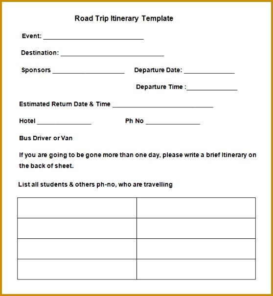 tour plan template 558606