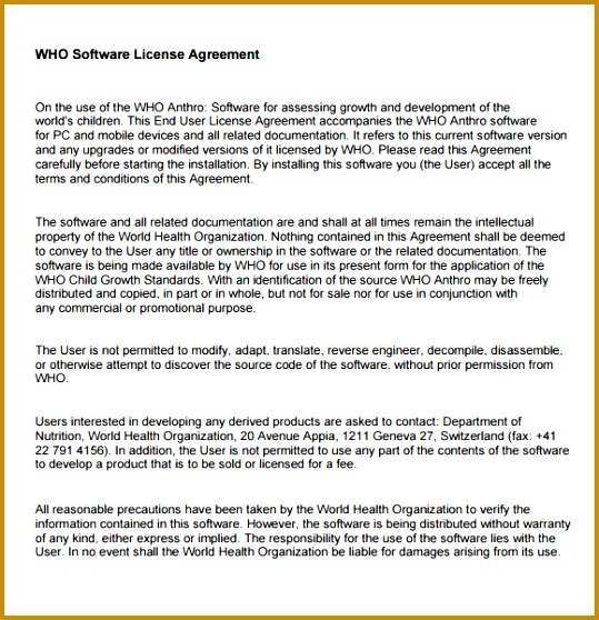 sample software license agreement 539558