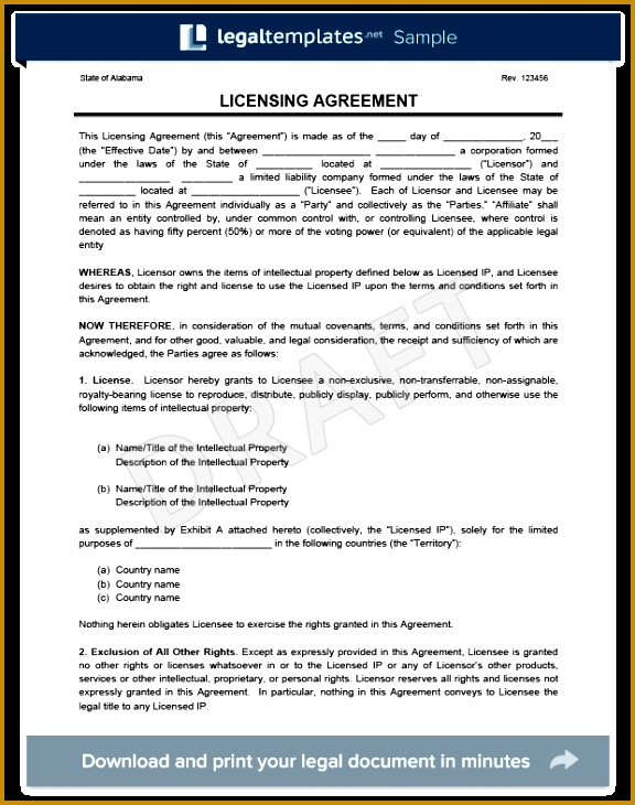 software license agreement template 730576