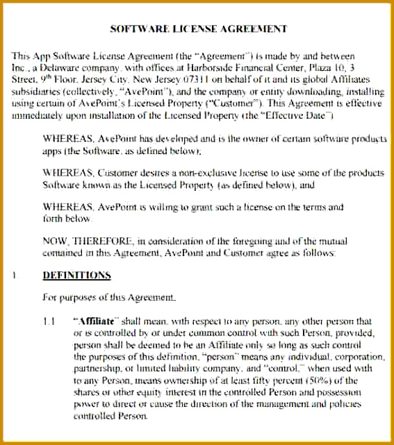 10 license agreement template 641567