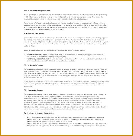 sample sponsorship agreement 544558