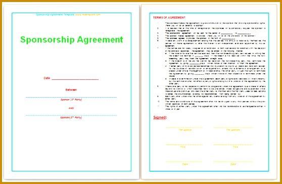 sponsorship agreement template 558364