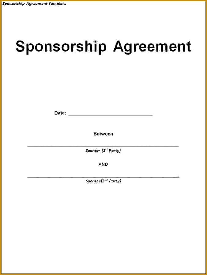 3 sponsorship agreement template 897676