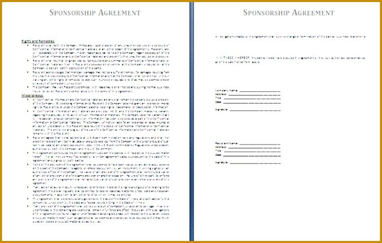 sponsorship agreement template 474744