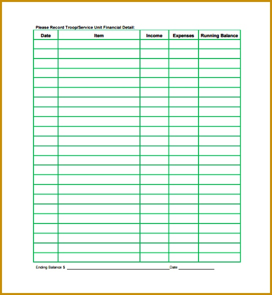 Annual Financial Spreadsheet PDF Template Free Download 590544
