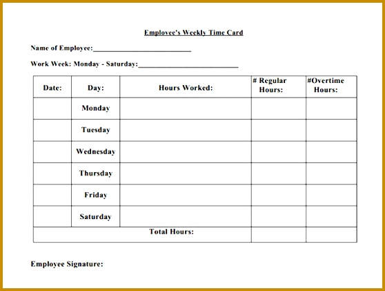 time card sheets 421558