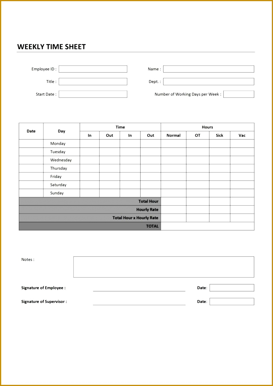 Remarkable Weekly Staff And Employee Time Sheet Template Sample 1346952