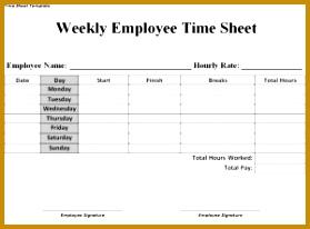 paper timesheet template 206279