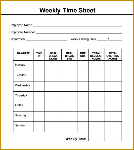 weekly timesheet pdf 604539