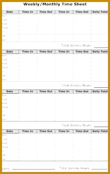 Sample monthly timesheet this build a simple timesheet in excel sample thank you letter after interview fax cover sheet sample 219345