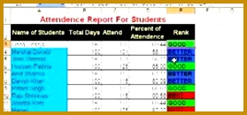 How To Use conditional formatting for a student attendance report in Microsoft Excel 130279