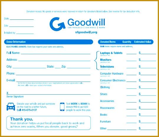 Tax Deductible Donation Receipt Template 465539