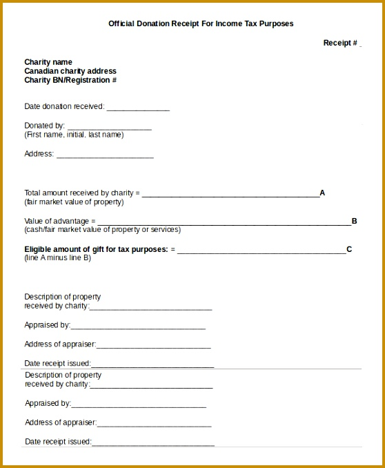 Donation Receipt Template for Tax Purposes 558678