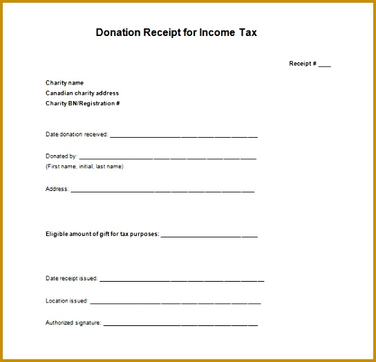 In e Tax Donation Receipt Format Free Download 544523