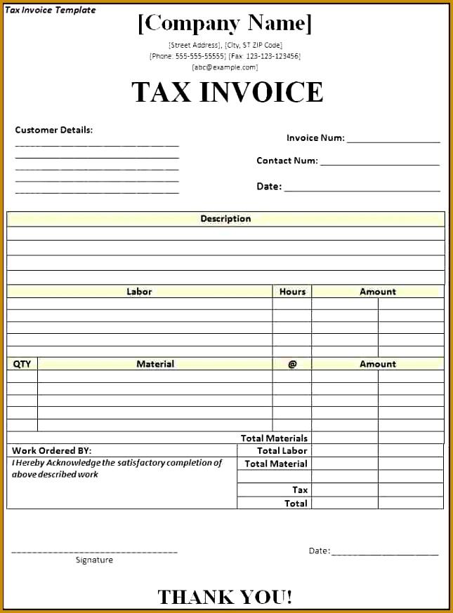 7 Tax Receipt Template | FabTemplatez