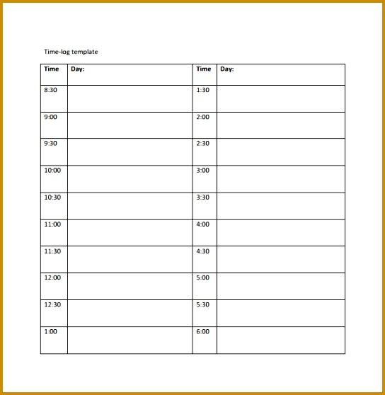 time log template 558544