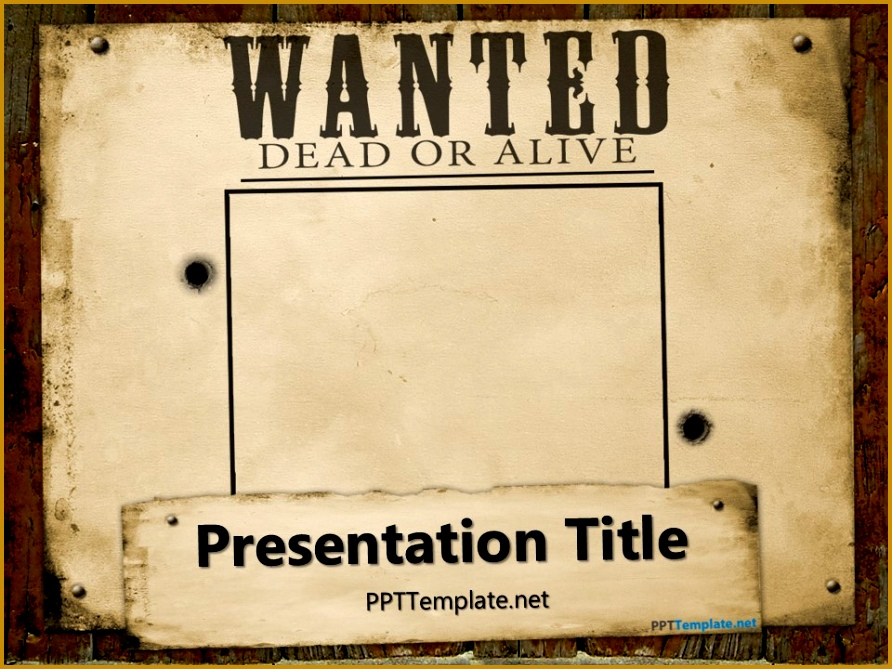 free wanted poster template powerpoint 669892