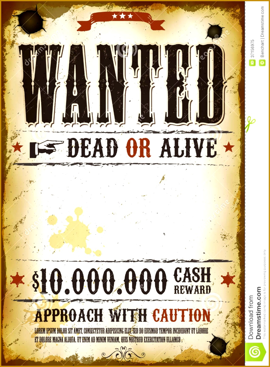 post cowboy wanted poster template 1209889