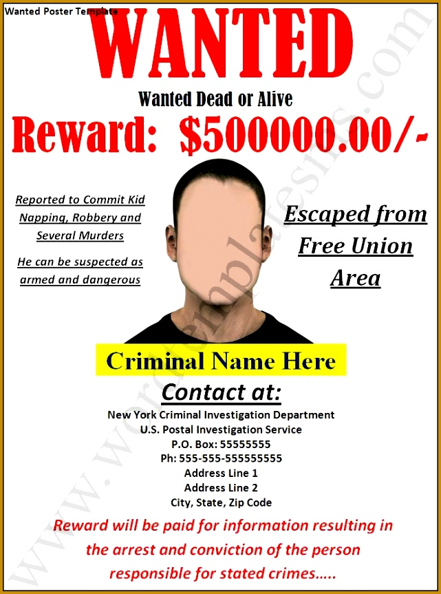 wanted poster template for pages 863641