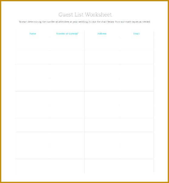 wedding guest list template 604558