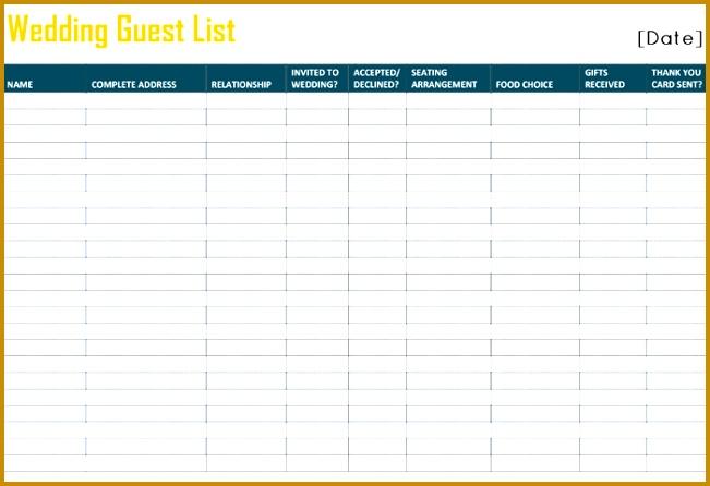 wedding guest list template 446651