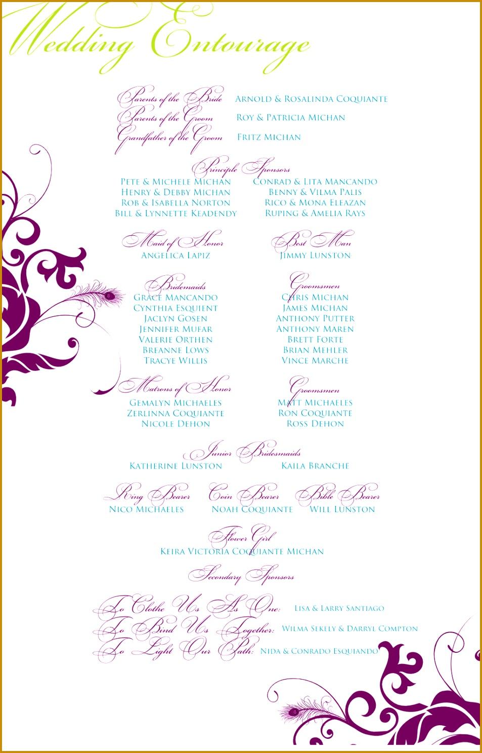 wedding invitation templates entourage 1488953